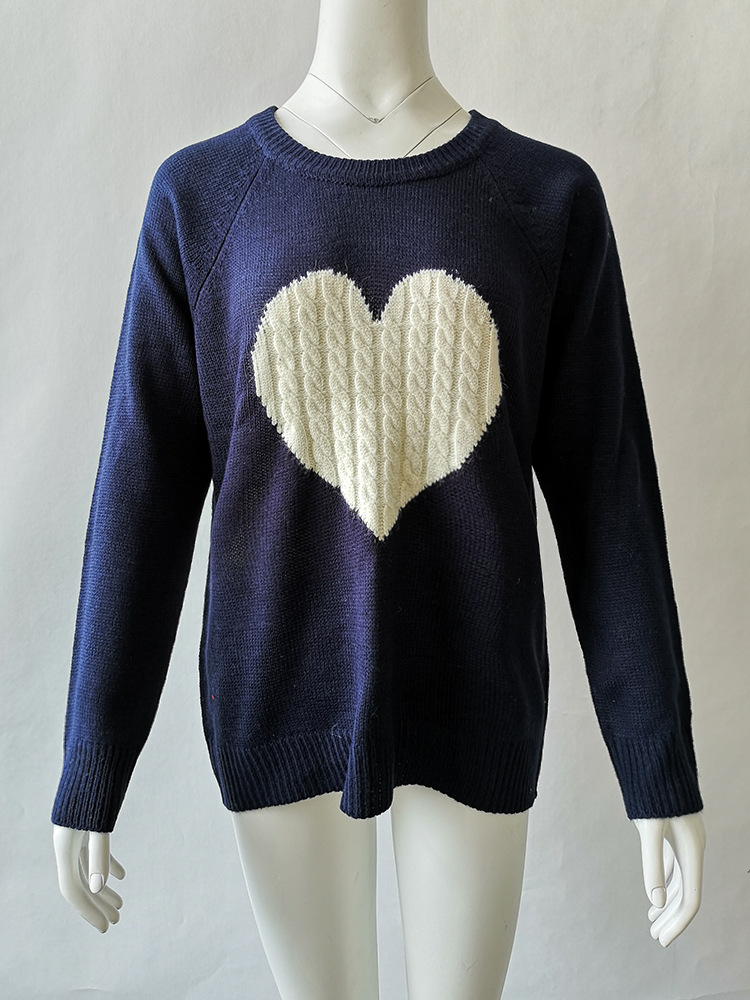 2 color 2pcs for pack Knitwear heart sweater for women