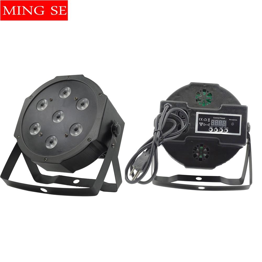 Fast  Shipping 7x12w Led Par Lights  RGBW 4in1 Flat Par Led Dmx512  Disco Lights Professional Stage Dj Equipment