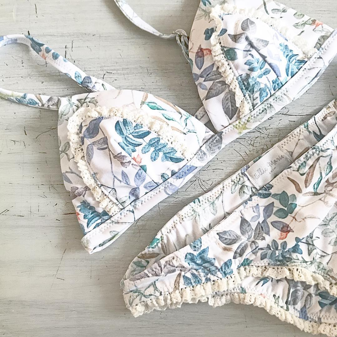 new style women bikini summer hot bathingsuit print leaf. Black Bedroom Furniture Sets. Home Design Ideas