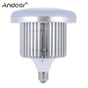 Image 1 - Andoer フォトスタジオ写真 135 ワット LED ランプ電球 132 ビーズ 5500 k E27 写真照明