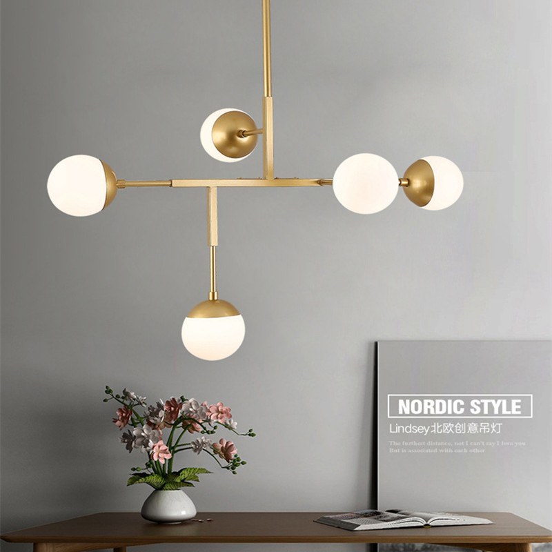 5 Heads Modern Creative Dinner Pendant Light Loft Art Molecular Livingroom Study Bedroom Restaurant Led Hanging