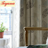 Semi Blackout Curtain Leaf Tulle Curtain For Living Room Door Decoration Purple Window Treatment Panel Hook