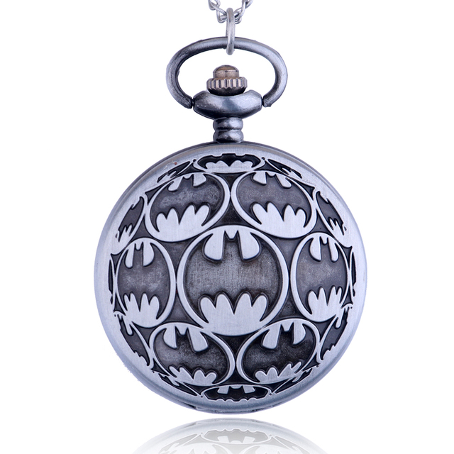 Fashion Quartz Clamshell Pocket Watch Personality Original Batman Pocket Watch B