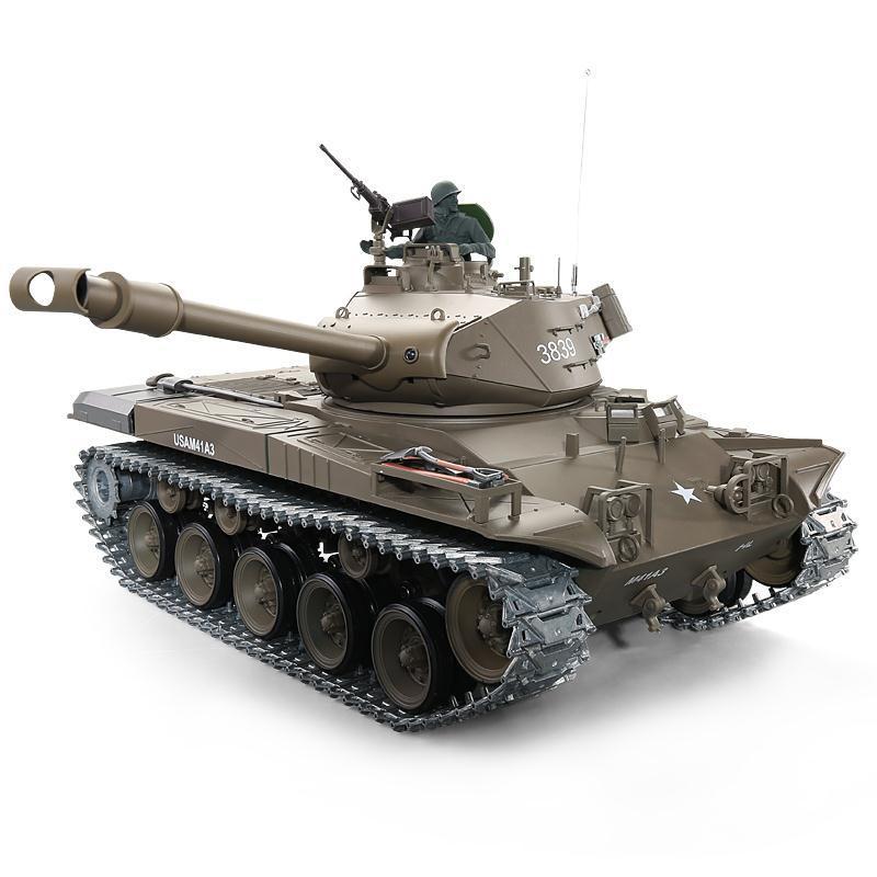 Heng Long RC Réservoirs 1 16 NOUS M41A3 Walker Bulldog Lumière Réservoir 2.4G 3839-1 1/16 télécommande RC Bataille réservoir