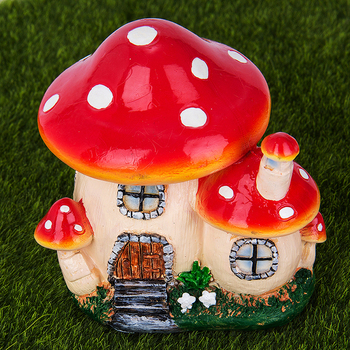 Mushroom House Resin Crafts Mini Fairy home Garden Decor DIY Ornament Landscape Miniatures Resin Accessories Micro Garden 1