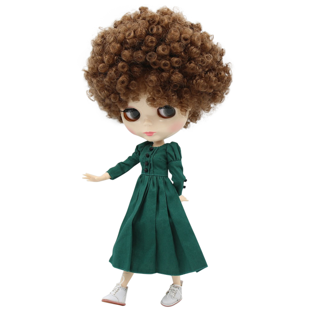 ICY fortune days factory blyth doll 1 6 bjd white skin joint body Afro brown hair
