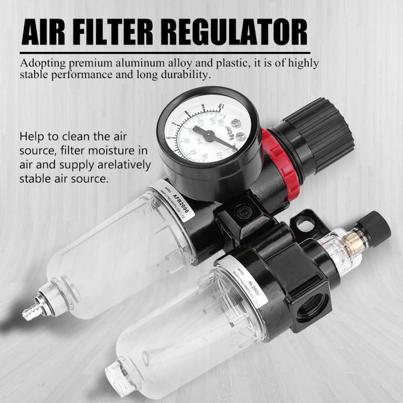 Regulating Filter Air Pressure Regulator Lubricator Moisture Water Trap Oil-Water Separator