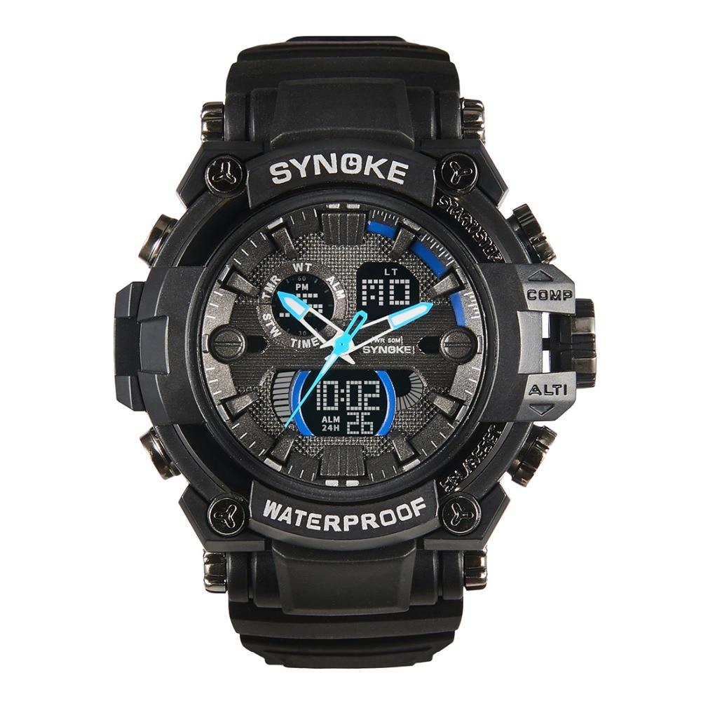 Outdoor Watches Men New Quartz Digital Wristwatches Timer Alarm Chrono 50M Waterproof Sport Clock Gift Black Gold