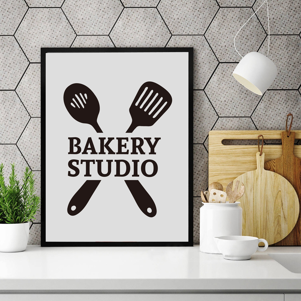 Home Decor Cartoon Kitchen Utensils Painting Space Wall Art For Living Room Nordic Minimalist Style Poster Canvas Unframe