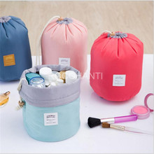 ROCOHANTI Waterproof Multi-functional Travel Cosmetic Bag Large Capacity Barrel Shaped Drawstring Portable Storage Wash Bag
