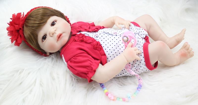 55 cm Silicone corps Reborn bébé poupée jouets 22 pouces nouveau-né princesse bambin bébés poupée enfant baignade jouet filles Bonecas Brinquedos