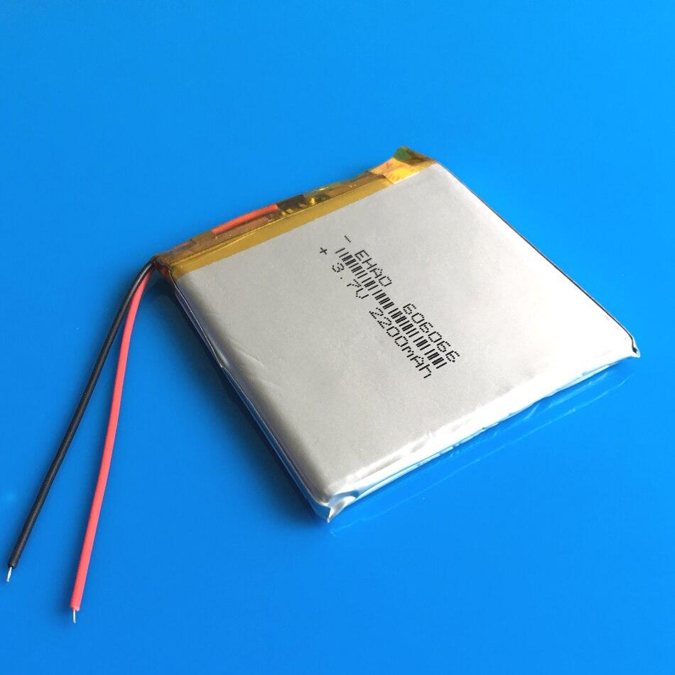 606066 3.7 v 2200 mah li po bateria recarregável de polímero de lítio para GPS DVD power banco Tablet PC PAD PDA câmera teclado do portátil