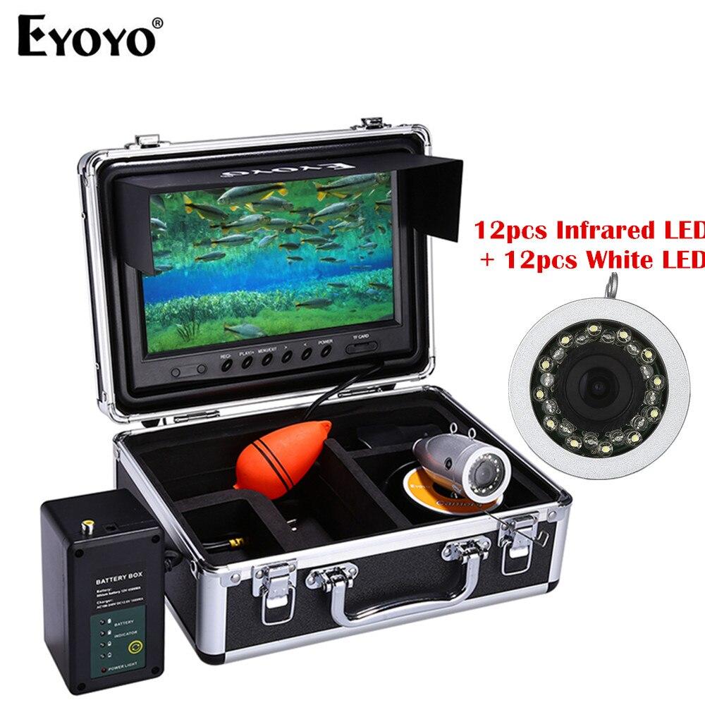 EYOYO WF09 9 30 m 24 pcs LED Rechargeable Cellulaire Boîte Fish Finder Sous-Marine Vidéo Enregistrement DVR 8 gb CARTE De Pêche Caméra