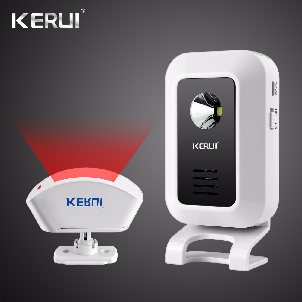 KERUI Wireless Doorbell Welcome Alarm Burglar Night-Light Remote Control Door Bell alarm For GSM Home Alarm System