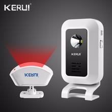 Kerui Беспроводной Дверные звонки Добро пожаловать охранной сигнализации ночник Дистанционное управление дверной звонок сигнализации для GSM сигнализация дома Системы