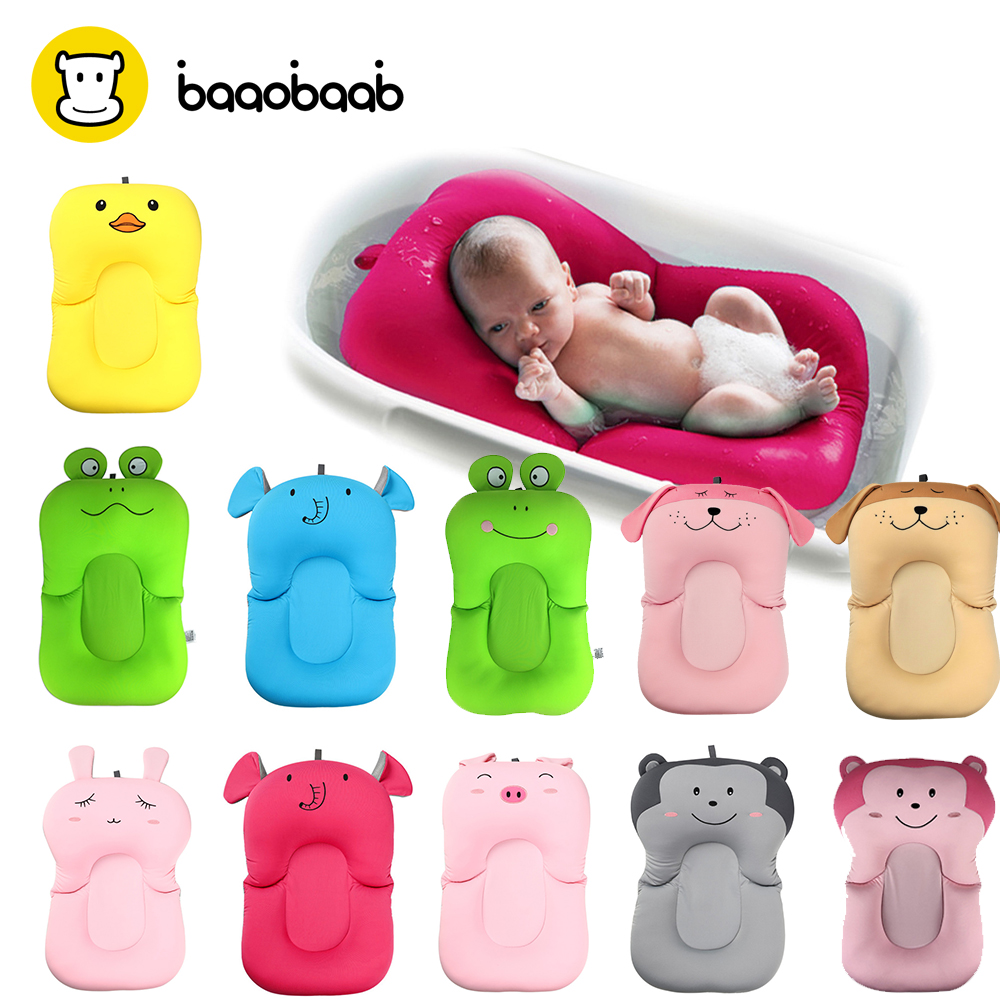 Baaobaab YD01 High Quality Anti-skid Baby Bathing Mat Baby Bathtub Shower Cushion Non-Slip Soft Baby Bath Pad Newborn Seat Safe цена 2017