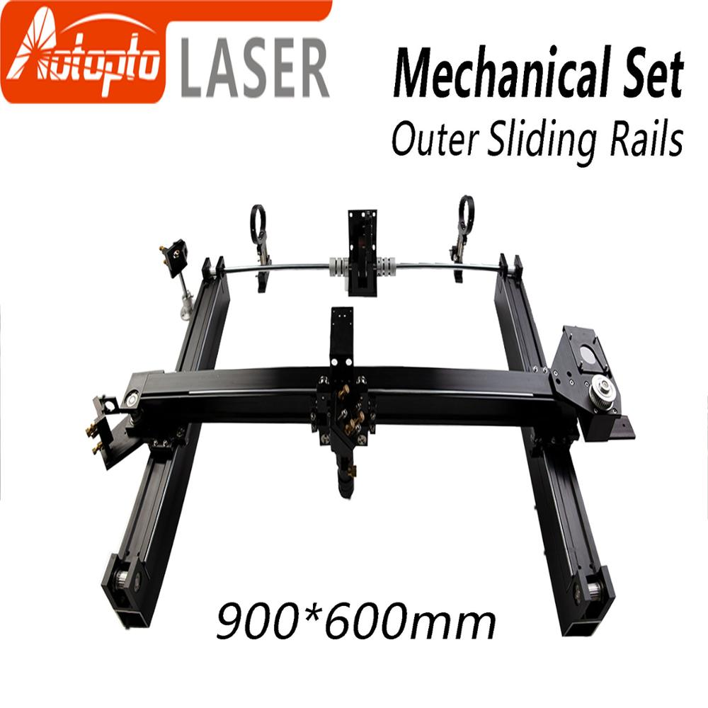 Mechanical Parts Set 900*600mm Outer Sliding Rails Kits Spare Parts for DIY 9060 CO2 Laser Engraving Cutting Machine