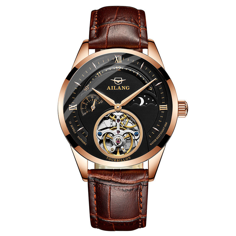 2018 new watch men's mechanical watch fully automatic special forces hollowed out leather belt fashion trend waterproof watch