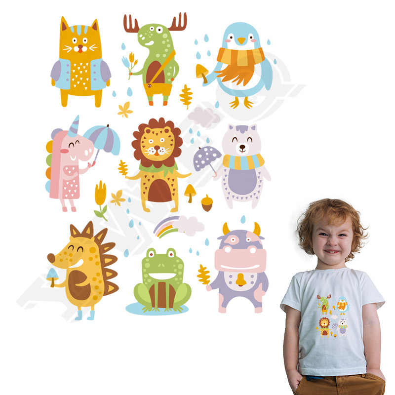Набор животных патч ручной работы железная заплатка для одежды моющаяся теплопередача аппликация значки 16x22 см Parch детский подарок