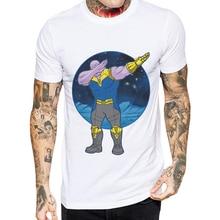 2019 New Arrival Mens T-Shirt Avengers O-Neck Short Sleeve Tops Thanos Dabbing Style Man T Shirts Hip Hop Funny Cool Tee Shirt
