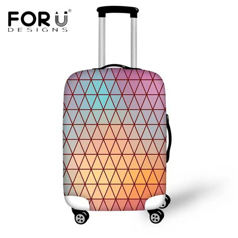 FORUDESIGNS Travel On The Road Luggage Protective Cover For 18-30 Inch Case Thick Elastic With Zipper Luggage Protector Suitcase
