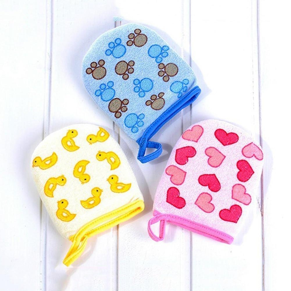 2018 New 3 Styles Cartoon Design Soft Sponge Baby Bath Brush Newborn Baby Shower Glove Kid Necessary - Small Gloves