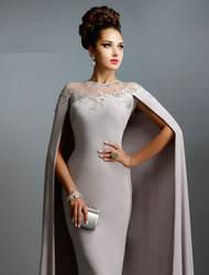 Vestidos De Novia длинные мусульманин Пром реальное изображение вечерние платья серый розовый Пром для матери невесты платье