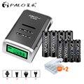 PALO 4 PCS 1.2 V NI-MH aa şarj edilebilir piller + 4 ADET 1.2 V aaa şarj edilebilir Piller + bir akıllı akıllı pil şarj aleti