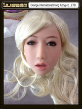 Top quality doll head for young lady sex doll, nice cheap oral sex doll head, silicone japan sex toy masturbator for man, HD-009