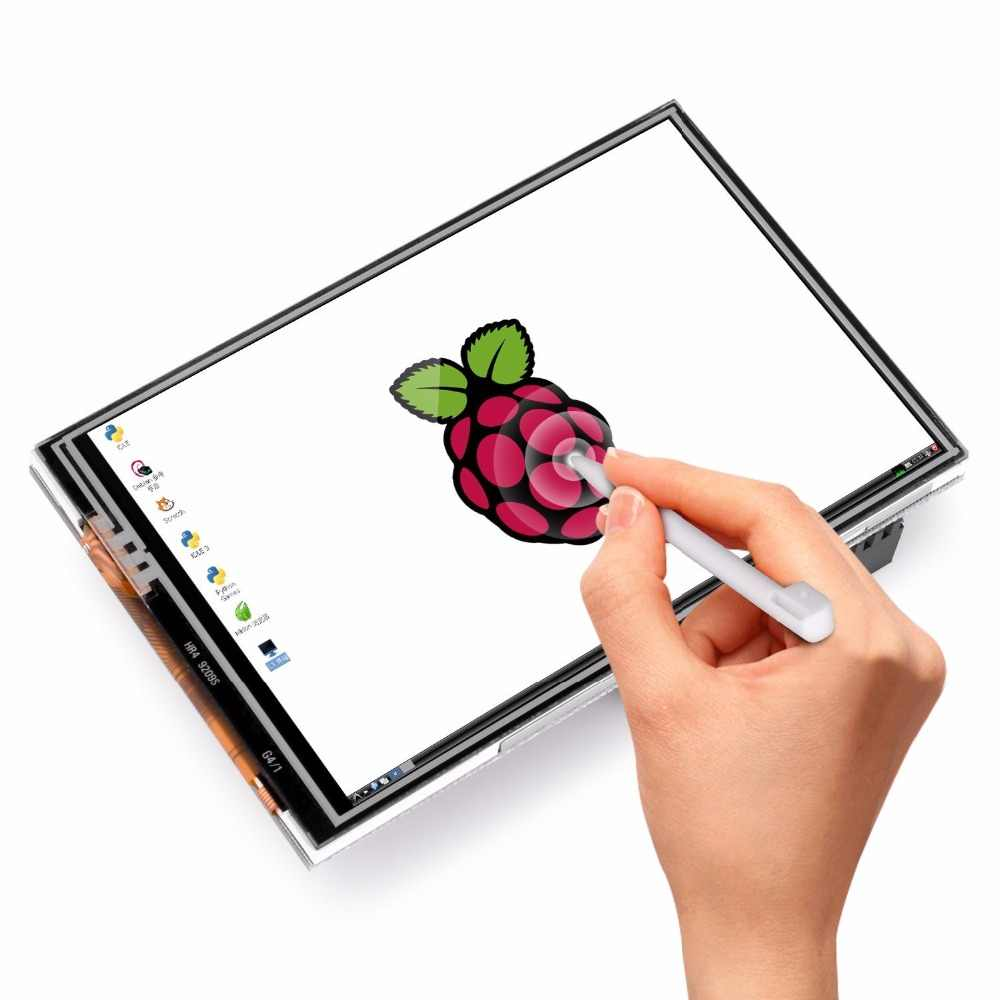 3.5 Inch TFT LCD Display Touch Screen Monitor for Raspberry Pi 3 2 Model B Raspberry Pi 1 model B+ 480x320 RGB Pixels with case