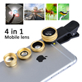 Universal Clip 4 в 1 Рыбий глаз Широкий Угол Макро 2X Телеконвертер мобильный Телефон Объектив Для iPhone 5 5S 6 s 6 плюс рыбий глаз APL-CX4