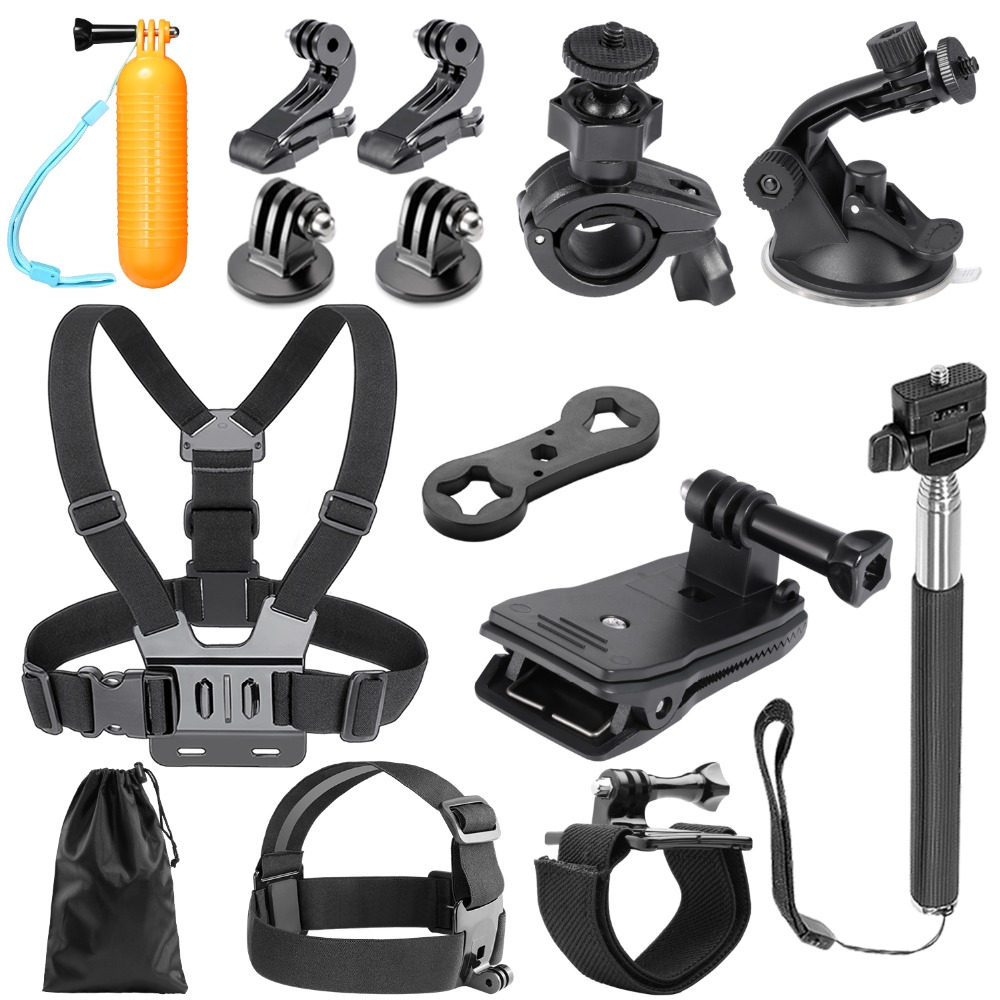 Neewer 14-in-1 Outdoor Sports Action Camera Accessory Kit for GoPro Hero Session/5 Hero 1 2 3 3+ 4 5 6 SJ4000 5000 6000 DBPOWER