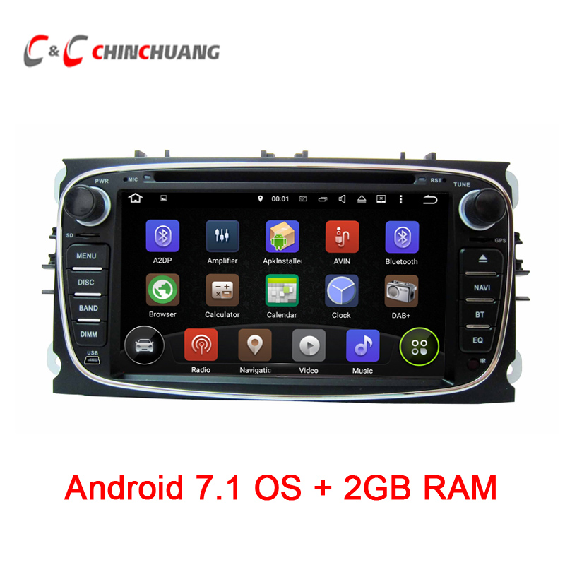 2GB RAM Quad Core !Android 7.1.1 for Ford C-Max S-Max Focus Mondeo Car DVD Player GPS with Radio Wifi BT DVR, Support DAB+ OBD