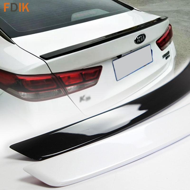 Спортивные Глянцевая Черный и белый задний спойлер багажника крыло для Kia K5 Optima 2016 2017