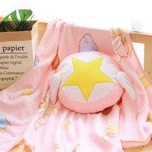 Аниме Card Captor Cardcaptor Kinomoto Сакура Сейлор Мун кондиционер одеяло подушки костюм косплей реквизит