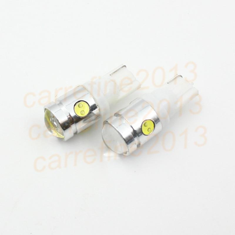 Rockeybright 10 unids blanco brillante T10 W5W LED lámpara 2.5 W 12 V del  coche LED indicador luz cuña base t10 bombilla led 4b988f32af49c