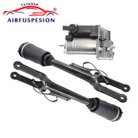 1Pcs Air Compressor Pump 2Pcs Front Air Suspension Shock Absorber with ADS for Mercedes benz W164 ML Class 1643206013 1643201204