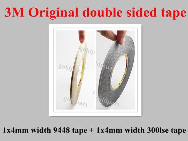 2x4mm 3 M cinta adhesiva de doble cara 9448 negro 9448B/9595LE 300LSE para Iphone Samsung HTC panel de cristal de pantalla LCD de reparación Noka