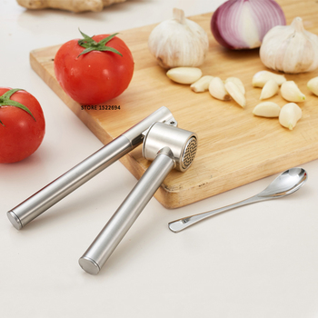 Round Garlic Press Stainless Steel Epicurean Pro Garlic Mincer Quality Chopper Easily Ginger Press Mince and Crush Free ship image