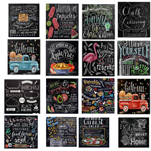 5D Diy Diamond Painting Chalkboard Sign Car Mosaic Full Embroidery Cro