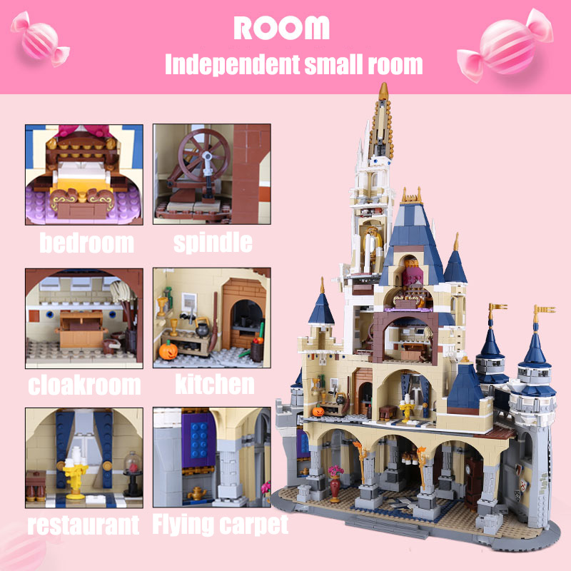 DHL 4080pcs Princess Castle City set 16008 Building Block Compatible with 71040 Set Children Toys Model Birthday Gifts-in Blocks from Toys & Hobbies    2