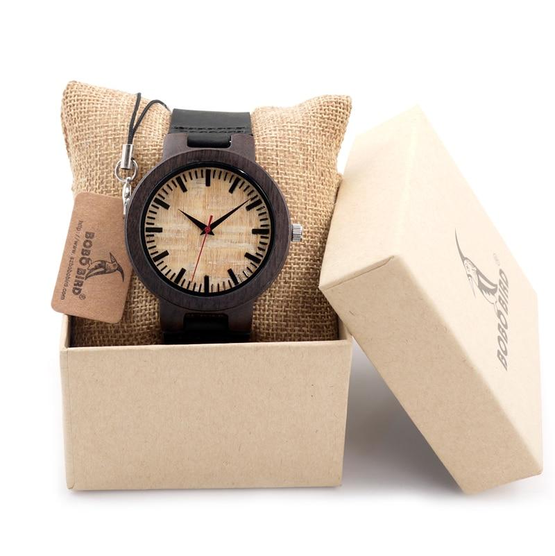 BOBO BIRD V-C23 남성 석영 손목 시계 수제 나무 시계 - 남성 시계 - 사진 6