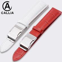 New Fashion Genuine Calf Hide Leather For casio Watch Strap Band red white SHEEN Watchbands casual balanceds women 14mm 18mm