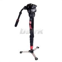 JIEYANG JY-0506 de Alumínio Monopé Profissional tripé para câmera de Vídeo com JY0506 Tripés Cabeça Carry Bag Frete Grátis