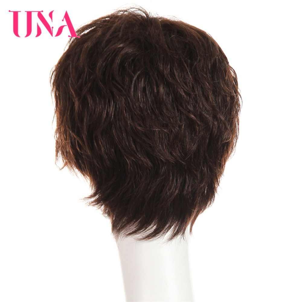Widget można wykorzystywać jako karaoke UNA peruki z ludzkich włosów #6383 #2/33 nie Remy ludzkie włosy 150% gęstości brazylijski proste włosy ludzkie peruki maszyna brazylijski peruki z włosów
