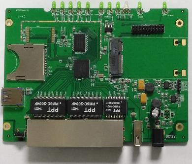 High performance mt7621 network processor router development board