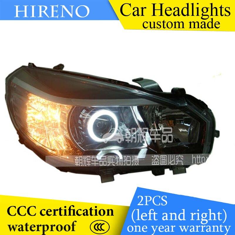 Hireno custom Modified Headlamp for Great Wall M4 Headlight Assembly Car styling Angel Lens Beam HID Xenon 2 pcs