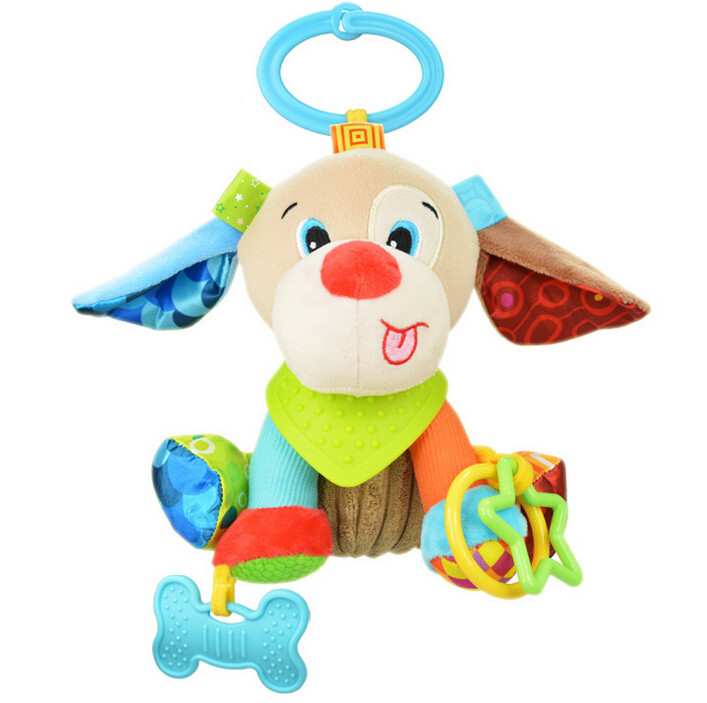 sozzy 5pcs Baby Toys Hanging Cot Soft Sheep Rattle Lathe Rock Teether Sound Paper Plush Toy For Cute Babies 20%Off-in Stuffed & Plush Animals from Toys & Hobbies    3