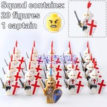 Dr Tong 21PCS LOT Crusader Medieval Knights Building Blocks Gladiatus font b Figure b font font