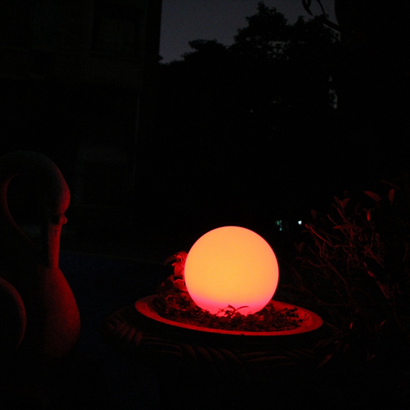 RGB 16 color changing battery powered remote control magic LED ball light Free shipping